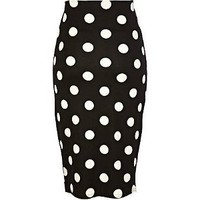 Retro To Go: Polka Dot Pencil Skirt from River Island