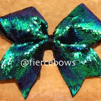 Mermaid Reversible Sequin Cheer Bow