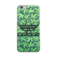 Adidas Logo Weed Plant Logo Marijuana Cannabis Mary Jane Leaf Leaves Stoner Pot Head Green iPhone 4 4s 5 5s 5C 6 6s 6 Plus 6s Plus 7 & 7 Plus Case