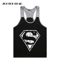 New 2016 Men Tank Tops Super Hero Homme Tops Fitness Muscle Crossfit Funny Brand Hot Quality Causal Male Tees ZOOTOP BEAR