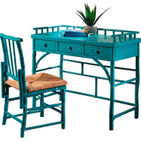 Eastbrook Desk and Chair Set, Turquoise, Writing Desks