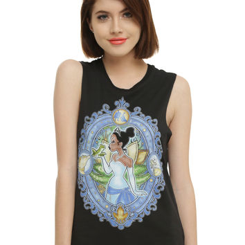 Disney The Princess And The Frog Tiana Stained Glass Girls Muscle Top