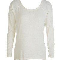 Thermal Burnout Wash Long-Sleeve - Cream