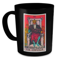 The Emperor Tarot Card Coffee Cup Mug emperormug