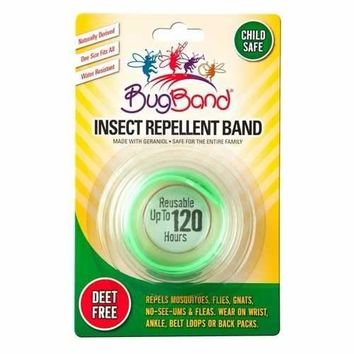 BugBand Insect Repellent Wristband Green (Case of 12)