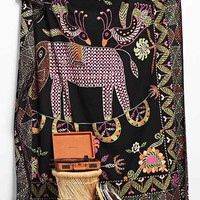 Magical Thinking Elephant Stitch Tapestry- Charcoal One