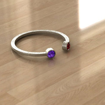 Dual colorful Birthstone Ring