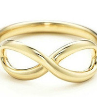 14kt Gold Plated Infinity Ring Directioner Wedding Gold Color Ring Any Size