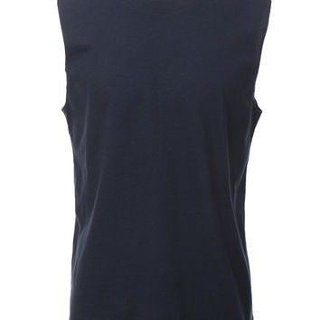PREMIUM Mens Casual Round Neck Muscle Tank Top