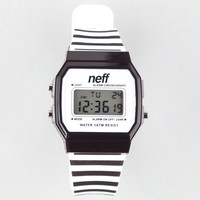 Neff Flava Digital Watch Black/White One Size For Men 25269012501