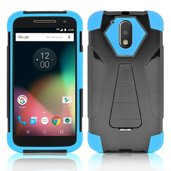 Motorola Moto G 4th Gen / G4 Plus / XT1625 / 1644 Hybrid Stand Case Cover Blue