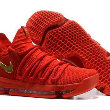 Nike Mens Kevin Durant Kd 10 Chinese Red Basketball Shoes | Best Deal Online