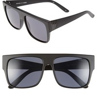 Women's Le Specs 'Bravado' 59mm Retro Sunglasses - Matte Black