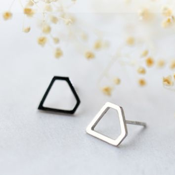 Copy of 925 sterling silver diamond hollow out Geometric earrings E4837-0415 -Gifts box