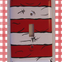 Dr. Seuss Cat in the Hat Striped Light Switch Plate