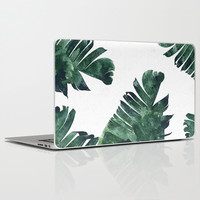 Banana Leaf Watercolor Pattern #society6 Laptop & iPad Skin by 83oranges.com | Society6