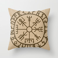 Old Norse Viking symbols of protection by healinglove Throw Pillow by Healinglove art products