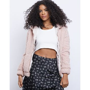 Cute And Cozy Fuzzy Zip Up Jacket