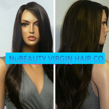 Custom Brazilian Straight Lace Front Wig
