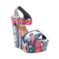 Winonna - Women's Colorful 5 Inch Wedge Heels by Steve Madden