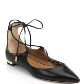Loeffler Randall-Ambra Leather Lace-Up Flats