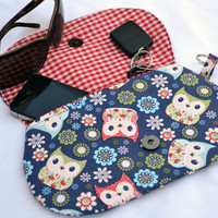 Spring owl's clutch, purse, snap pouch, clutch, fall clutch, wristlet, pouch