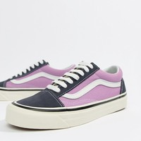 Vans Anaheim Old Skool Sneakers In Og Navy And Lilac at asos.com