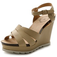 Ollio Women's Shoe Wedge High Heel Platform Strap Sandal