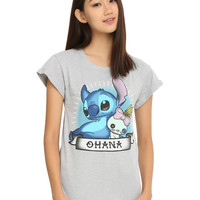 Disney Lilo & Stitch Ohana Tattoo Girls T-Shirt