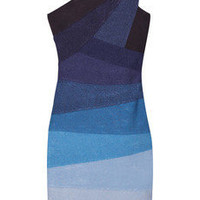 Hervé Léger One-shoulder ombré bandage dress - 55% Off Now at THE OUTNET