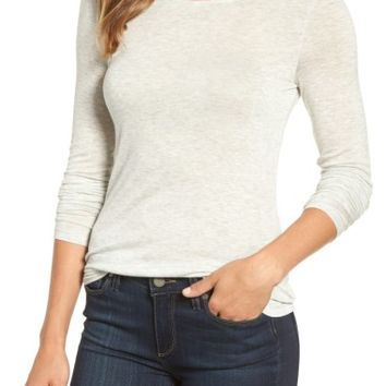 Halogen® Sheer Knit Tee (Regular & Petite) | Nordstrom