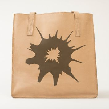 Black bullet hole. tote