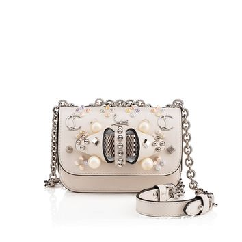 Sweety Charity Mini Chain Bag Ivory Calfskin - Handbags - Christian Louboutin