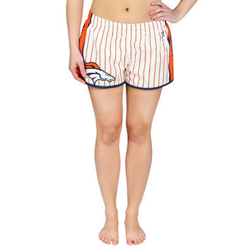 Denver Broncos Official NFL Womens Pinstripe Shorts