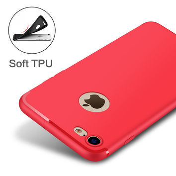 Red Thinnest Protection Phone Case For iPhone 7 7Plus