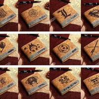 Cool Attack on Titan Cartoon Anime Student Fashion wallet Chopper/Totoro/Naruto/Conan Edgar/ Cool brown Billfold Woman/Man Wallet AT_90_11