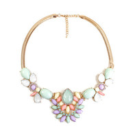 Fashion Stylish Classy Best Gift for Lovers Birthday Anniversary Valentines Christmas  Floral  Necklace Collarbone Chain _ 8617