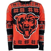 NFL Chicago Bears Unisex NFL Big Logo Ugly Crew Neck Sweater, Small