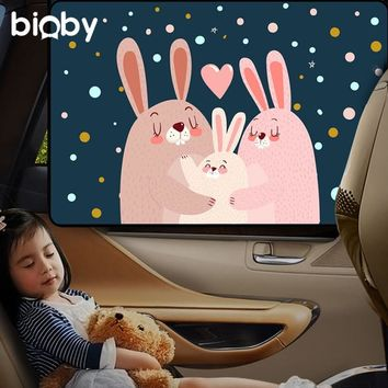 Cartoon Baby Kids Car Magnetic Sunshade Curtain Sun Shield Car Window Sun Blocks Baby UV Rays Protect Auto Vehicles Accessories