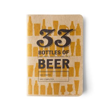 33 Books Co. 33 Bottles of Beer Notebook | Bespoke Post