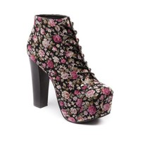 Womens Shi by Journeys Kelly Floral Boot in Black | Shi by Journeys