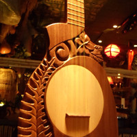 Custom made, Tahitian Ukuleles.  Hand Carved by Scott