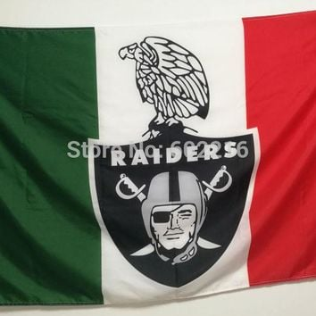 Oakland Mexican Raiders Custom Large Outdoor Flag 3ft x 5ft Football Hockey USA Flag