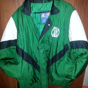 Vintage 90s NBA Boston Celtics Starter Jacket - Size XL -