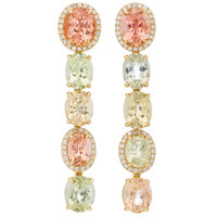 One-Of-A-Kind Pastel Tourmaline Drop Earrings | Moda Operandi