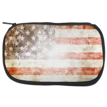 PEAPGQ9 4th of July American Flag Star Spangled Banner Travel Bag