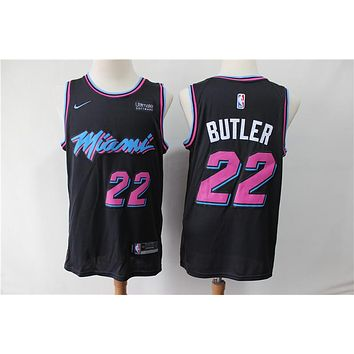 Miami Heat 22 Jimmy Butler Black City Edition Jersey