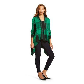 Women's Plaid Open Cardigan -Merona™