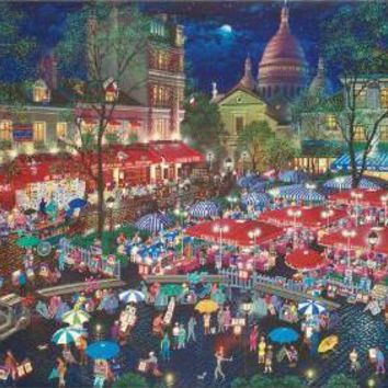 A Night at Montmartre - Limited Edition Mixed Media on Paper by Alexander Chen