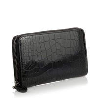 Patent black croc-embossed wallet Alaia - Savannah's